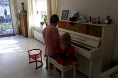 Playing piano with Uncle Ed